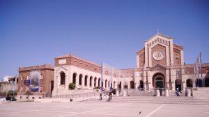 Facciata esterna del Santuario di Santa Maria Goretti a Nettuno